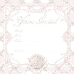 Free Printable Tea Party Invite Template Mom M B Day Tea Party