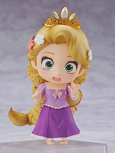 """The Disney princess with magical golden hair is joining the Nendoroids! From the movie """"Tangled"""" comes a Nendoroid of Rapunzel! She comes with three face plates including a cheerful smile, a surprised expression with her eyes wide open as well as a gallant smile showing off her more tomboyish side. She also comes with"""