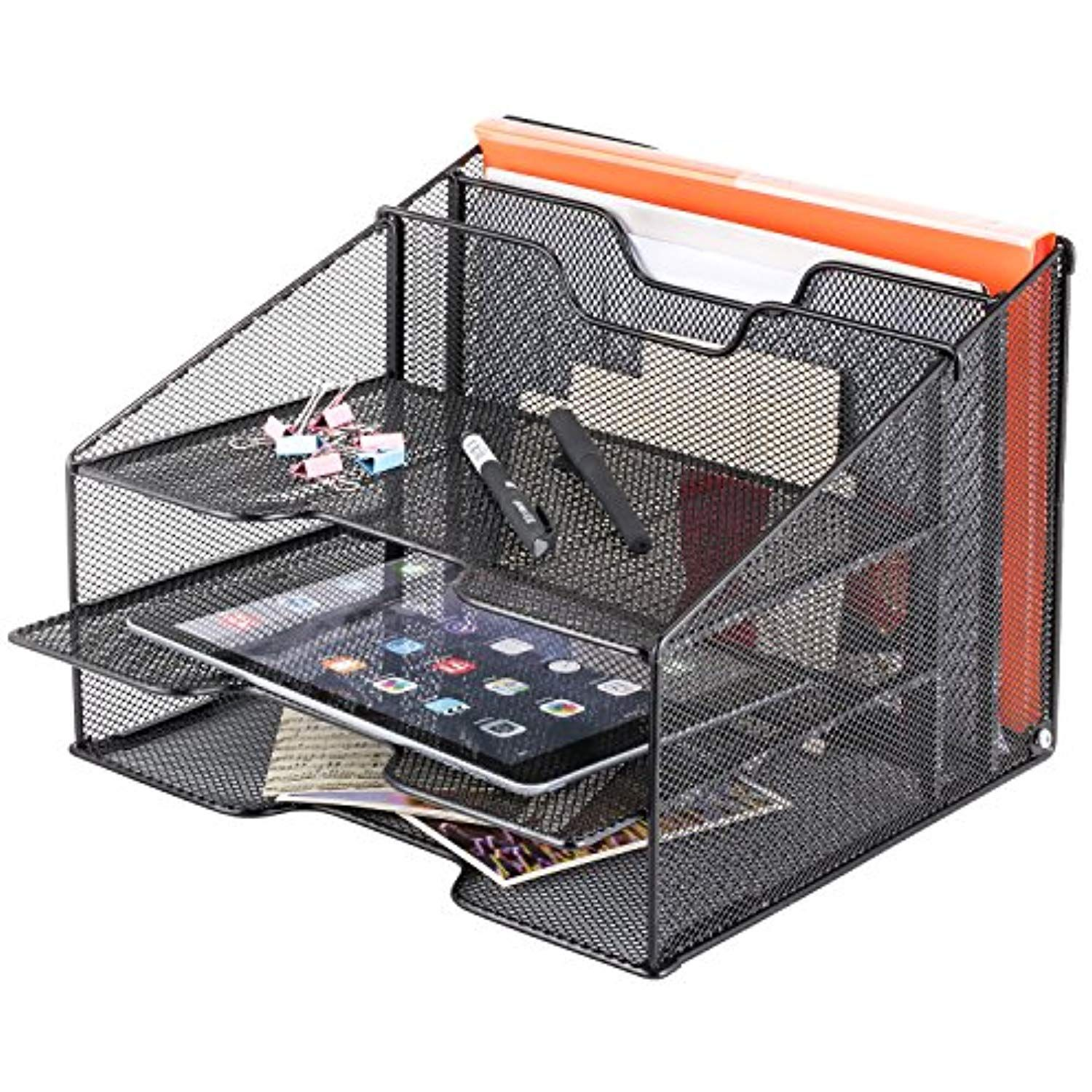 Samstar Mesh Desk File Organizer Letter Tray Holder, Desktop File