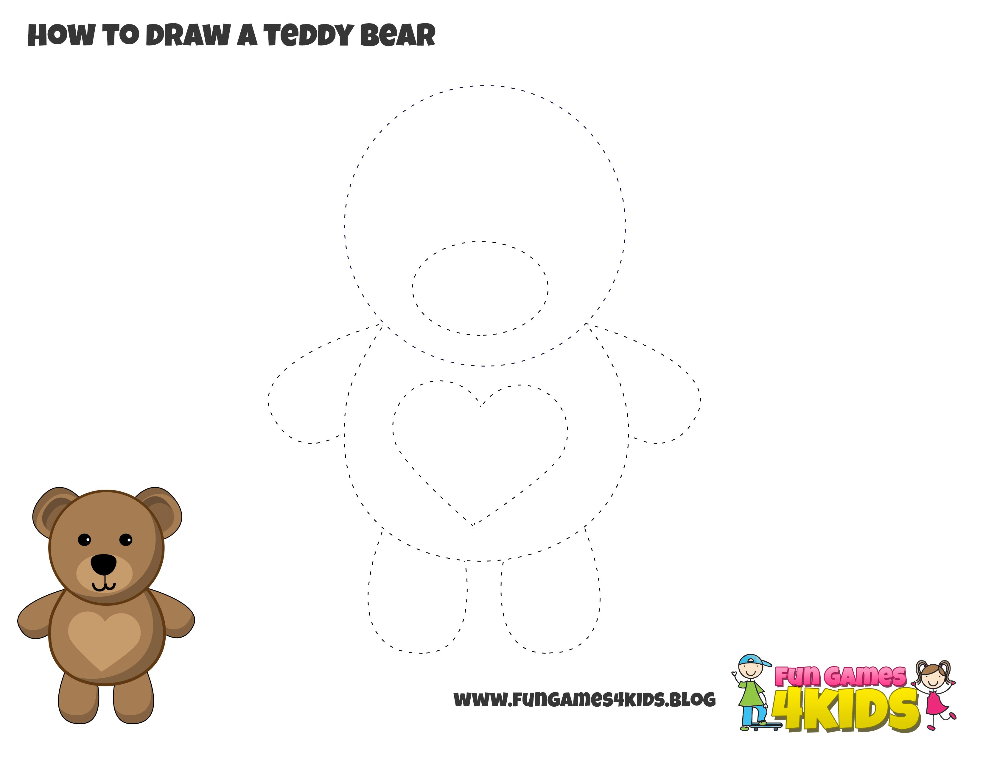 How To Draw A Teddy Bear From Fungames4kids Club