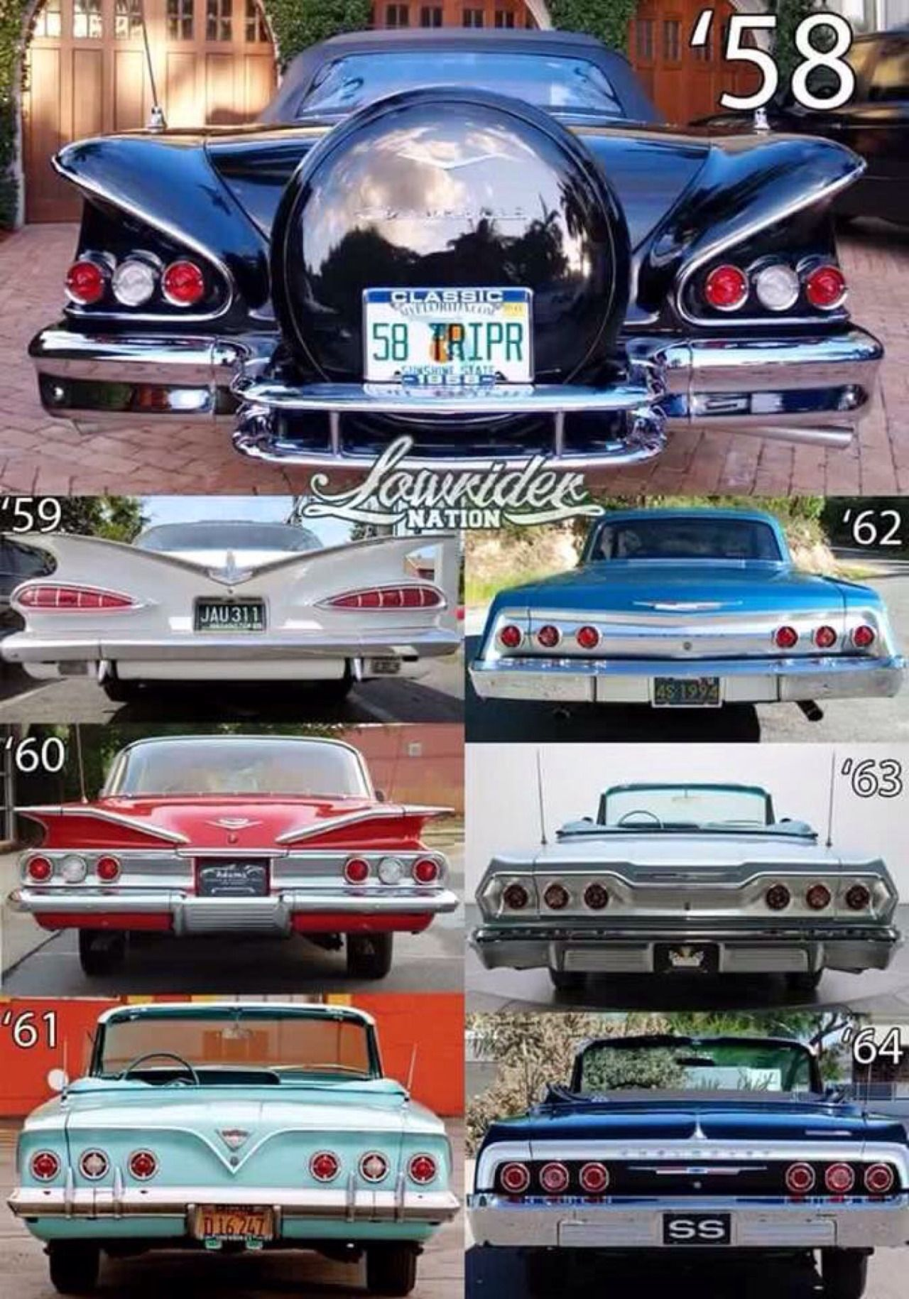 1958 1964 impala year id other chevys pinterest 1958 1964 impala year id fandeluxe Image collections