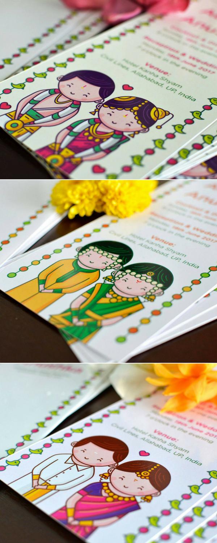 wedding invitation templates in telugu%0A SCD Balaji Illustration Wedding Invitation  Glittering Navy Laser Cut  Gatefold invite with Blush red