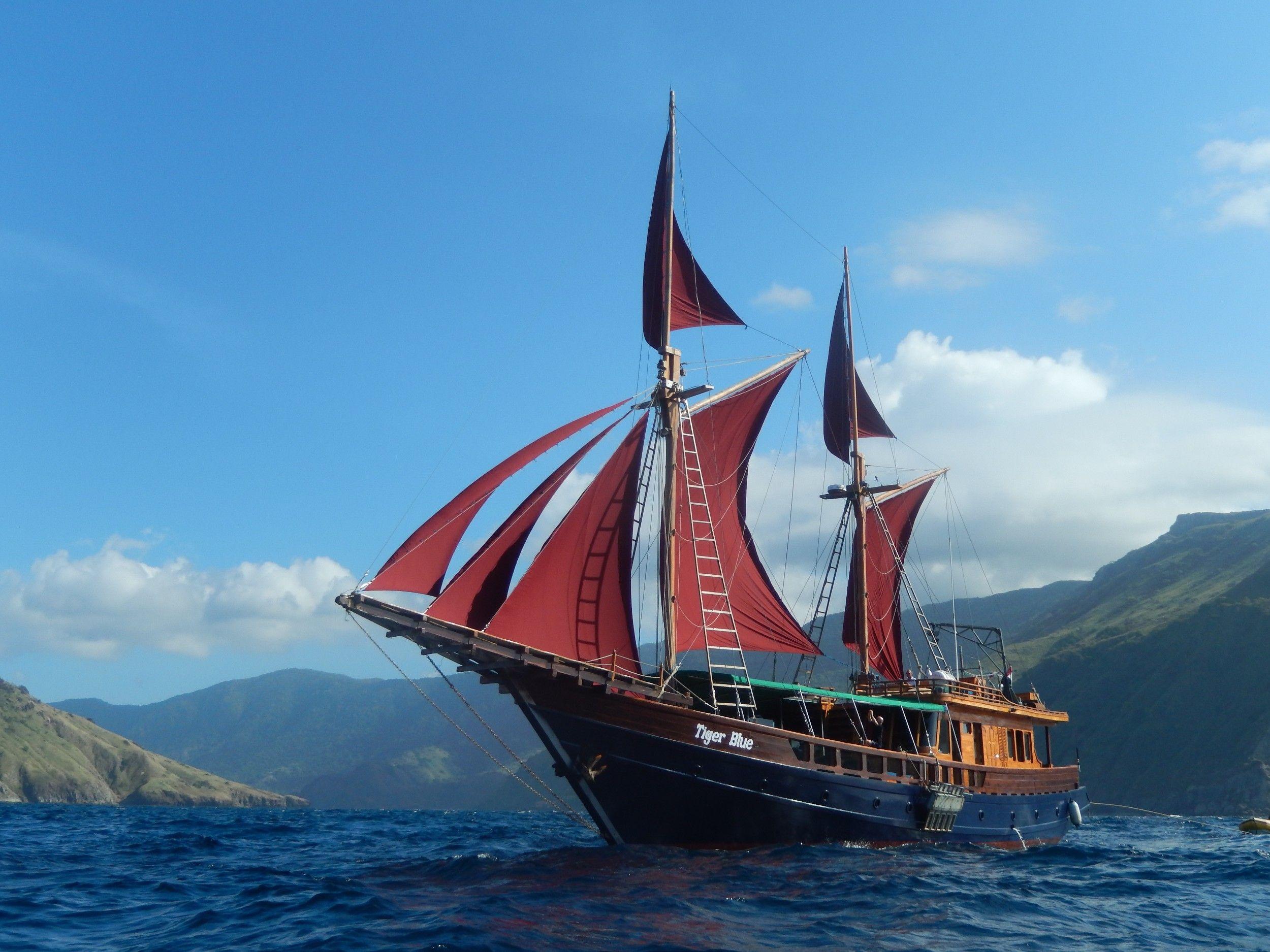 Pin on Perahu layar Phinisi Boat