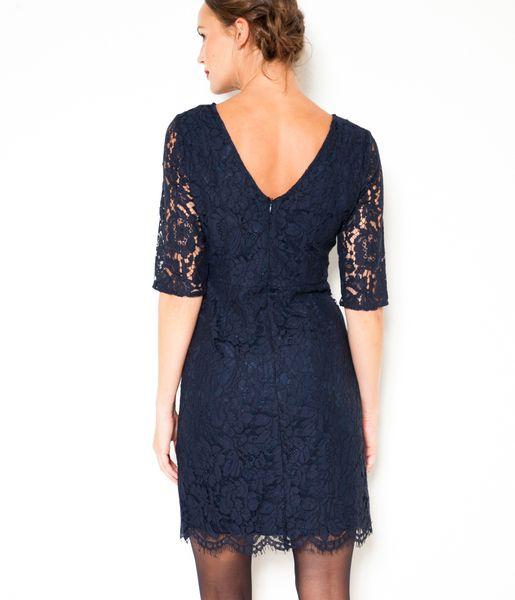 robe dentelle bleu nuit camaieu 2016 cose da comprare With robe dentelle camaieu