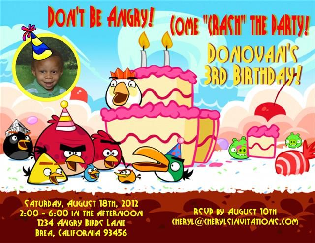 Angry birds birthday party invitations templates invitations angry birds birthday party invitations templates filmwisefo Choice Image