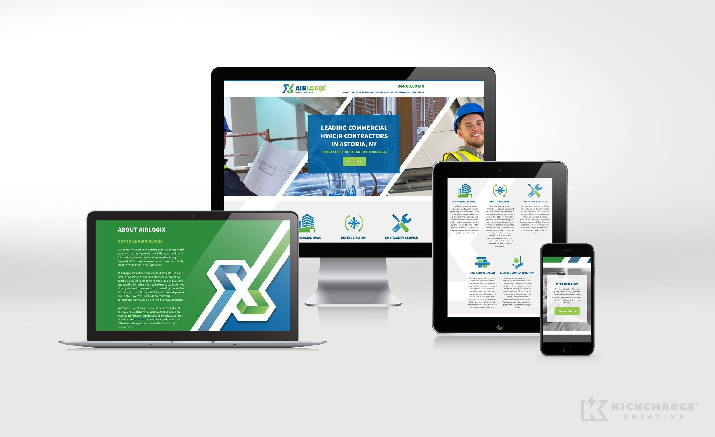 Website Design For Airlogix A Commercial Hvac R Company In Astoria Ny Nj Advertising Agency Nj Ad Agency Nj We Web Design Commercial Hvac Website Design