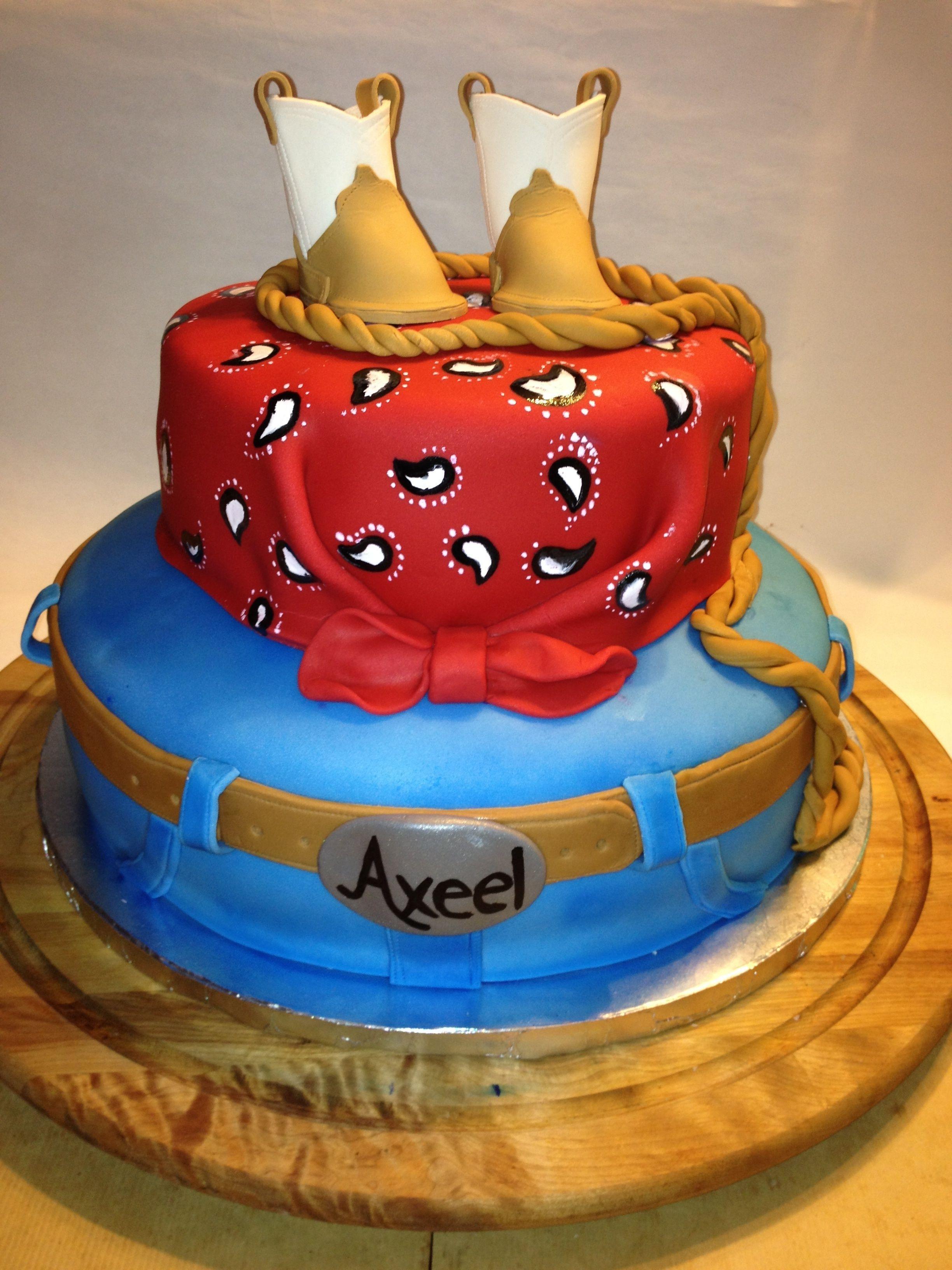 Cowboy Birthday Cake Cowboy 1st Birthday Cake Chelys Sweet