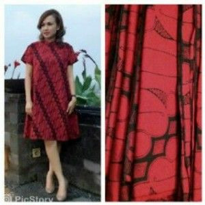 Image dress batik cantik