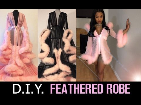 ad7be2c0b9220 142) DIY Feathered Robe - YouTube