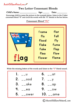 two letter blends worksheets | Letter blends, Blends ...