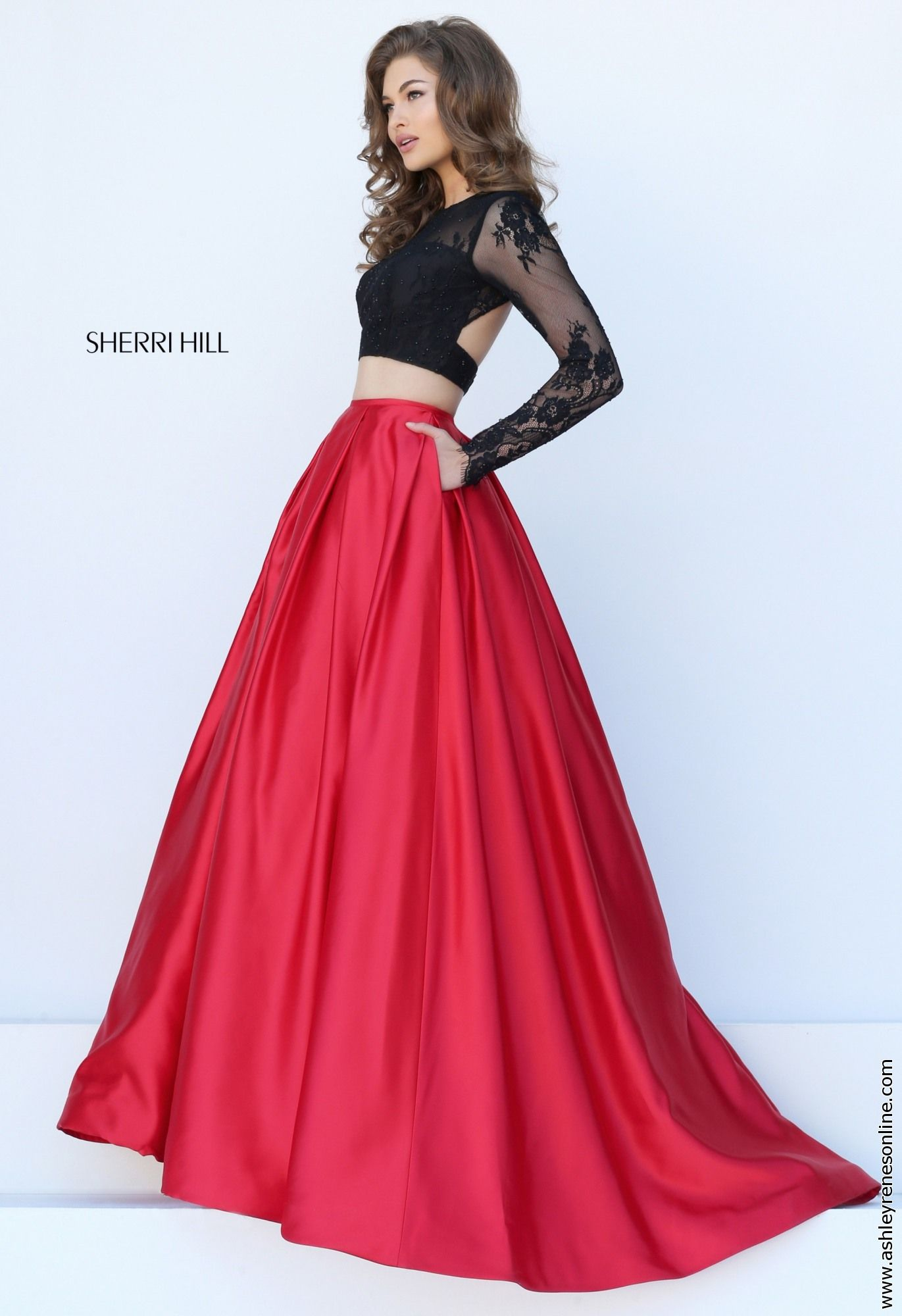 Sherri Hill red prom dress at Ashley Rene\'s Elkhart, IN 574-522-7766 ...