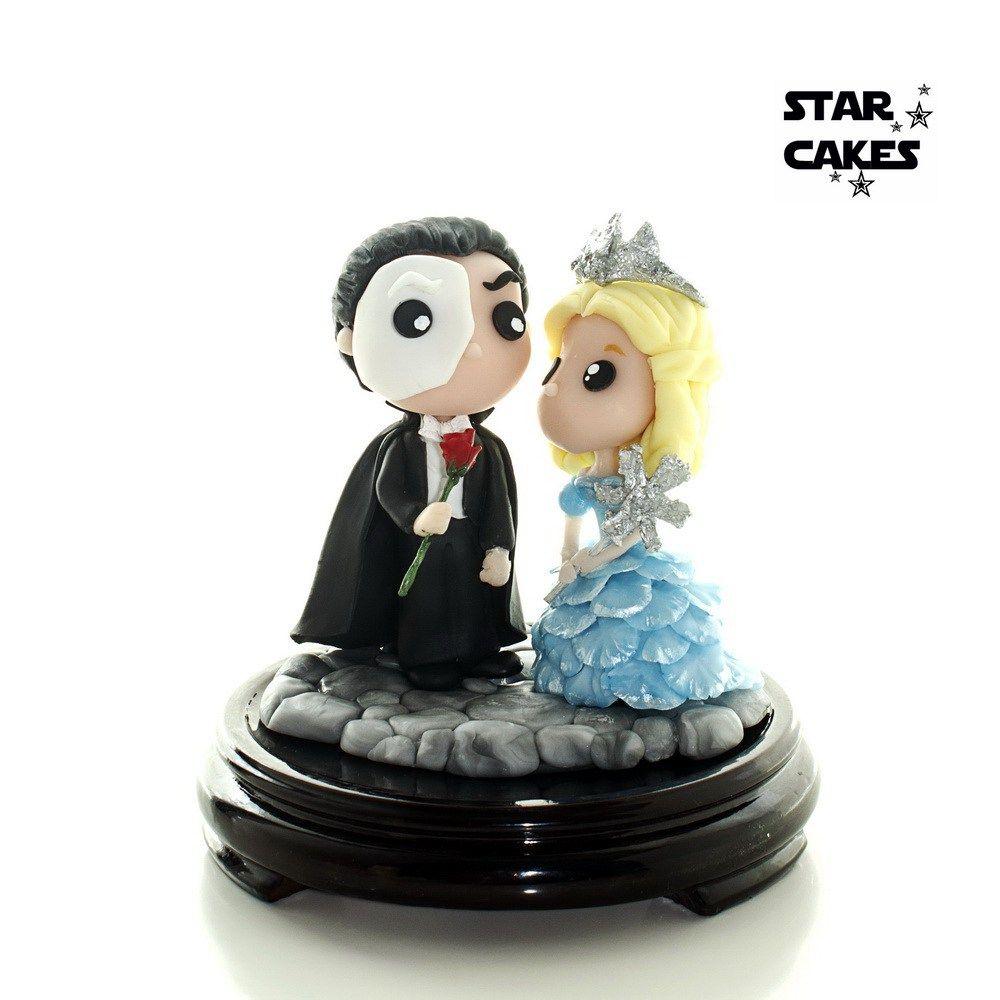 Fantasma de la Opera y Glinda Phantom of the Opera Wedding Cake ...