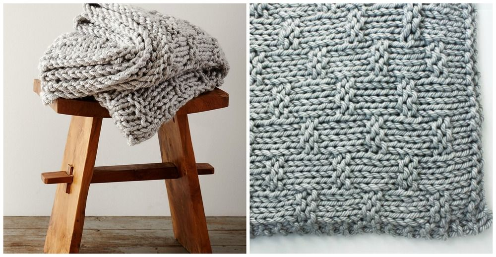 Out for a Picnic Knit Throw | Mantas de puntos, Manta y Cobija