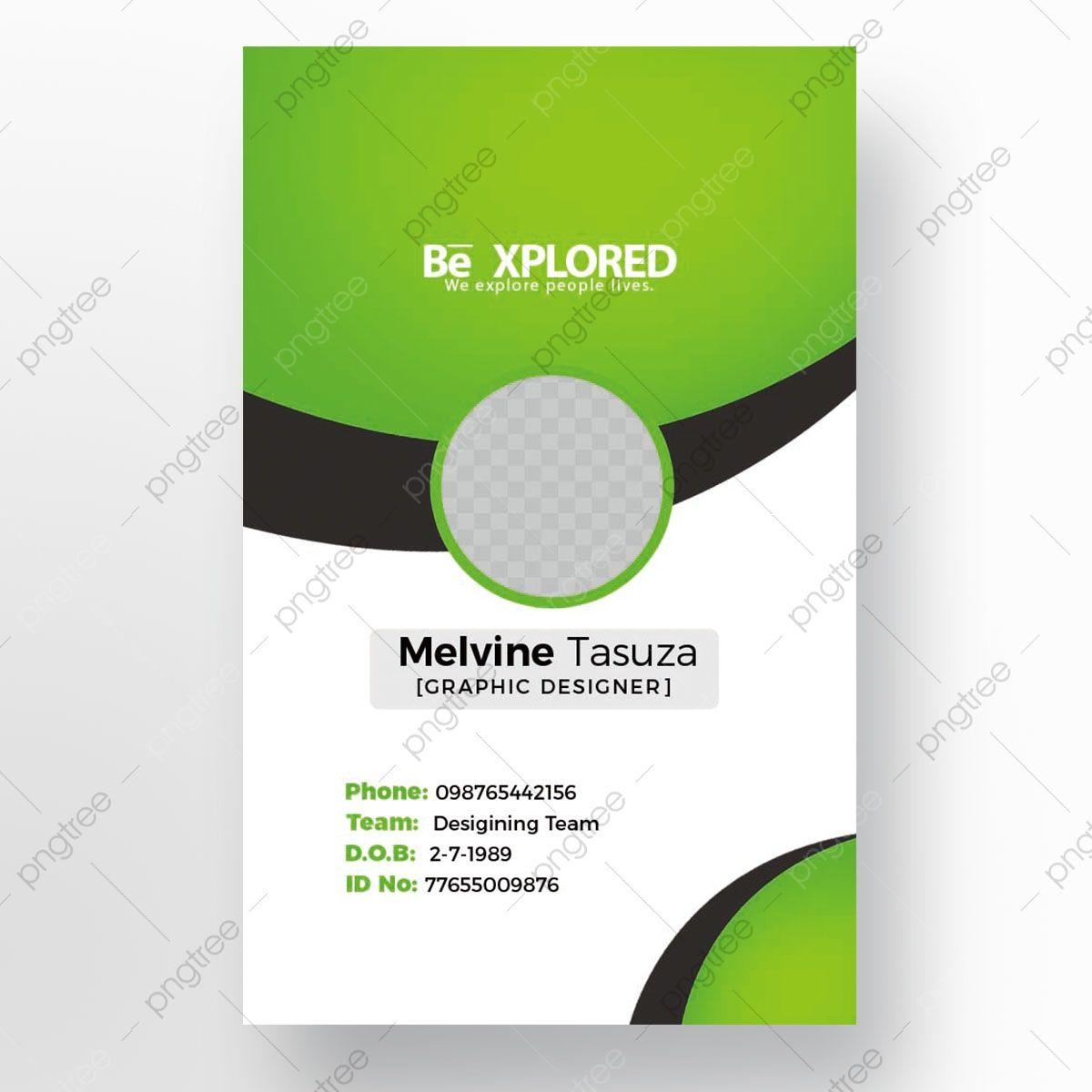 Professional Id Card Id Card Template Identity Card Design Blue Business Card