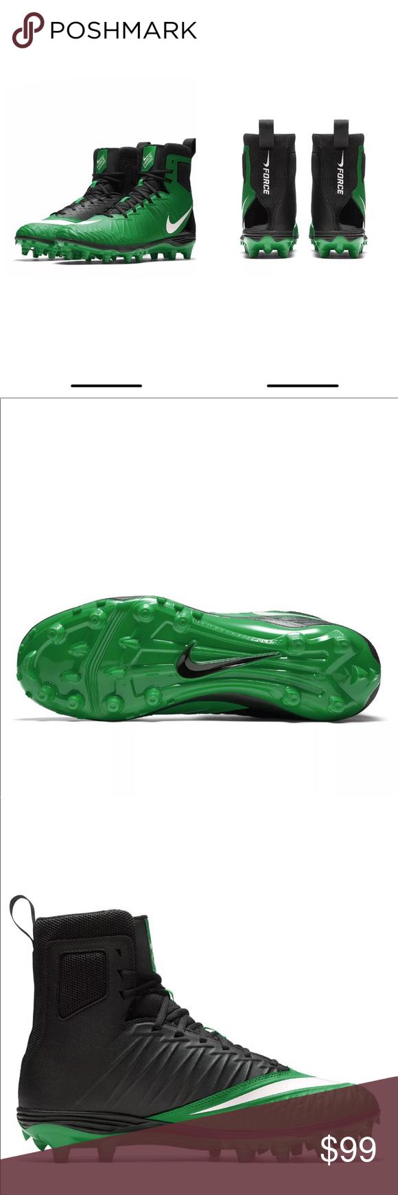 "big sale 05744 cbead Nike Force Savage Varsity Football Cleats Green 10 Nike Force Savage Varsity  Mens High Top Football Cleats Green/Black ""Sz 10"" NEW! S-5 Nike Shoes  Athletic ..."