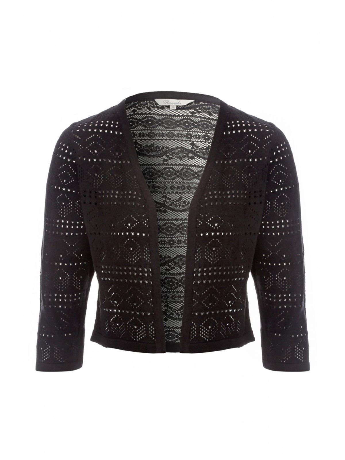 Women's Pointelle Lace Cropped Cardigan | Peacocks | FashTwats ...