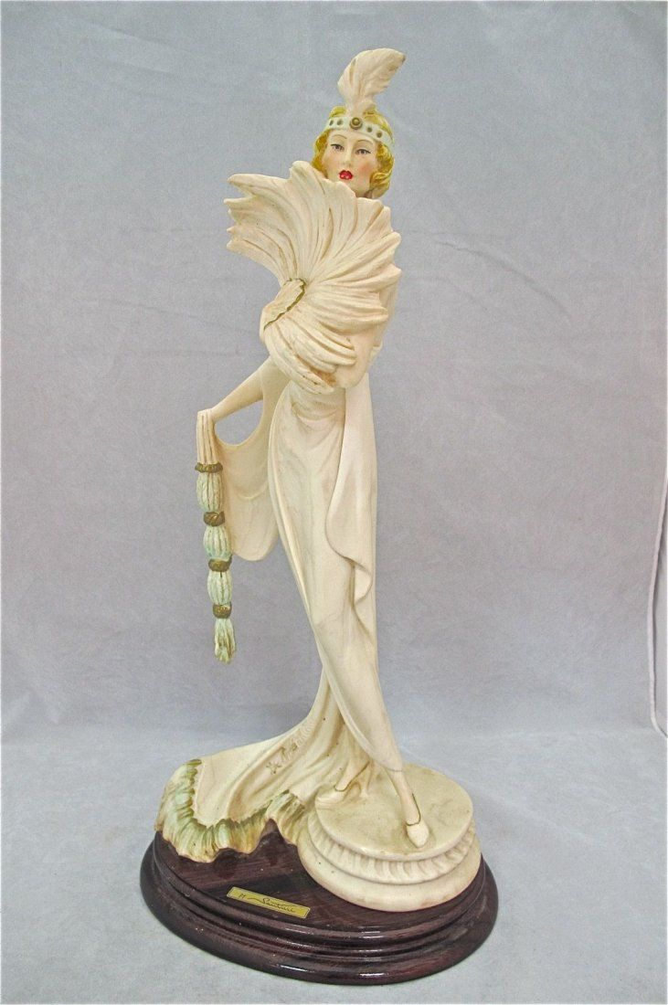 A Santini Art Deco Statue Of A 1920s Woman Art Deco