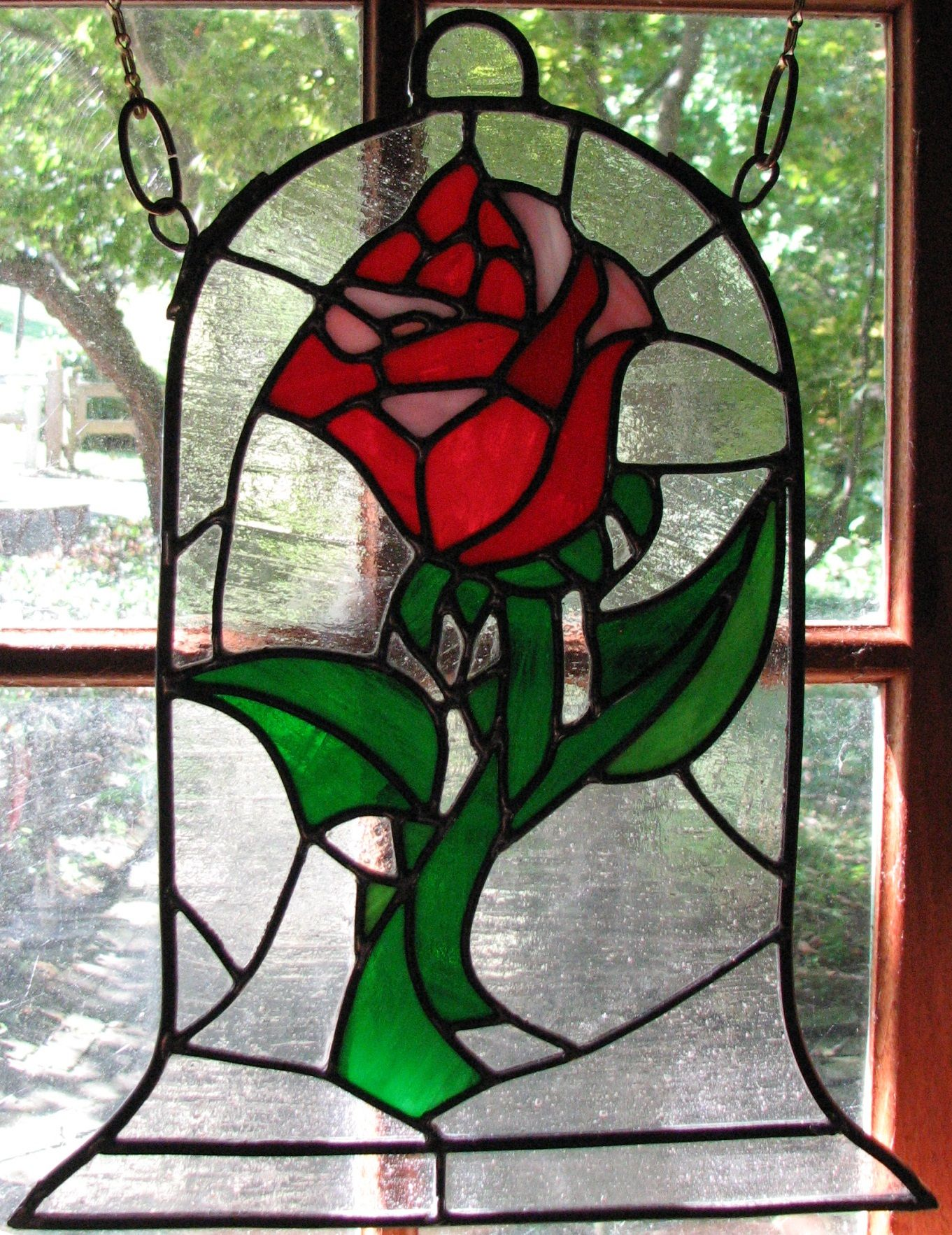 Beauty And The Beast Rose Stained Glass By Autobotwonko D99Ui5U (1361 1765)