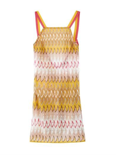 448c33ac19 Chevron-knit beach dress