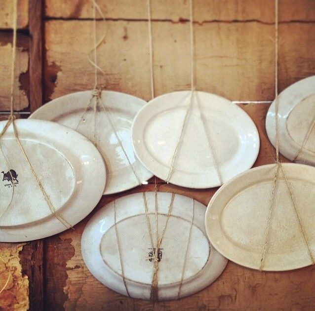 LOVE this ironstone plate display by Simple Things Furniture via IG