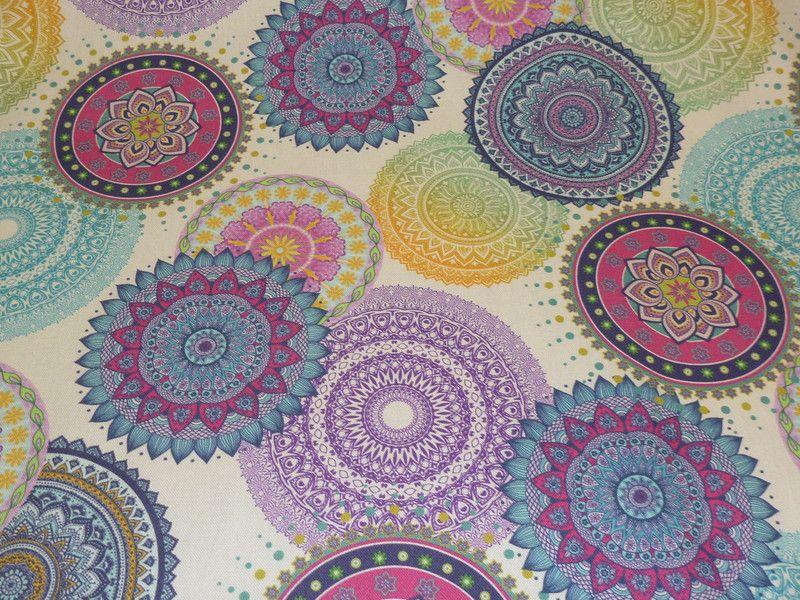 Stoff Grafische Muster Baumwollstoff Meterware Mandalas Ein Designerstuck Von Sonni Mami Bei Dawa Baumwollstoff Meterware Grafische Muster Muster