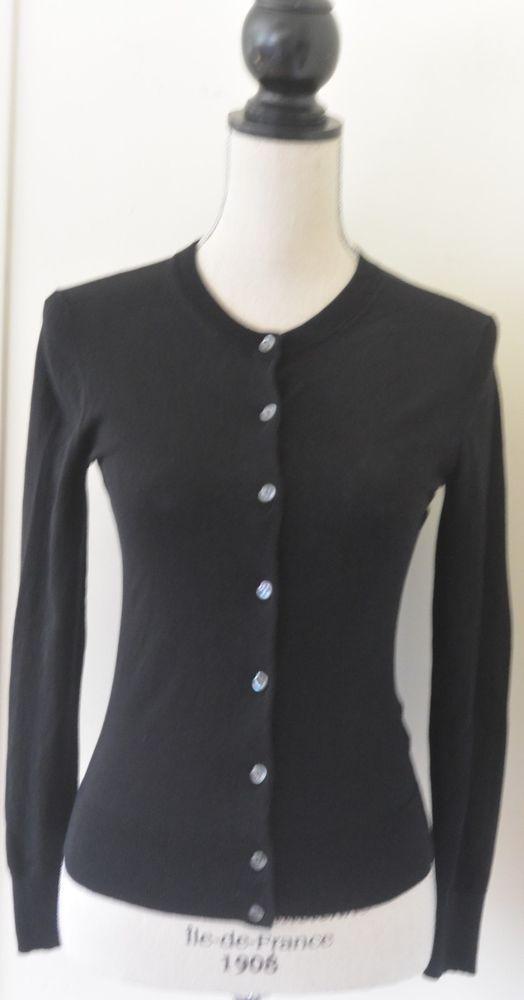 J. Crew black black cotton cardigan sweater size XS worn once ...