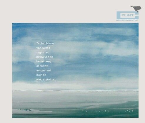 Spiksplinternieuw Gedicht van Willem Hussem. Plint Poëzieposters   Gedichten LA-23