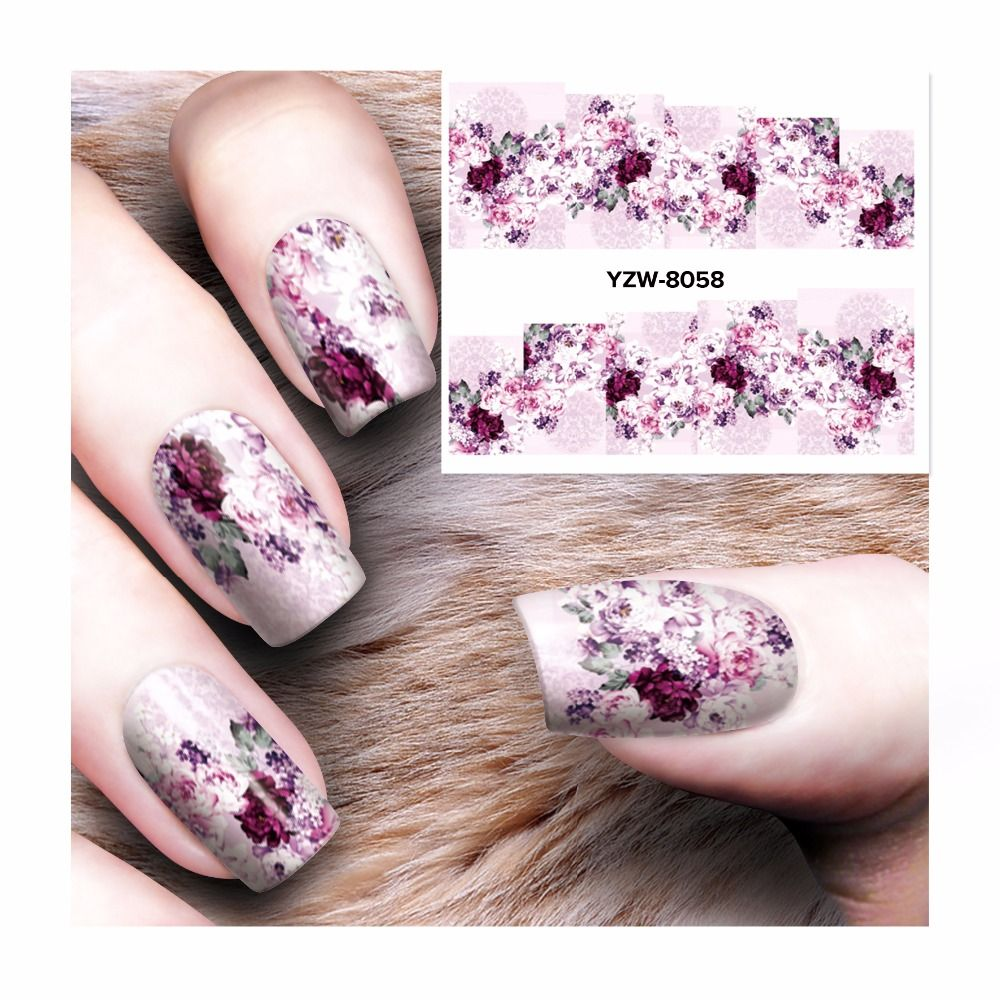 FWC Nail Art Water Transfer Stickers Decals Nail Decoration ...