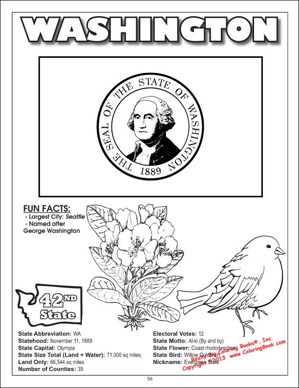 Coloring Books United States Coloring Book - All 50 States Flag Coloring  Pages, Missouri State Flag, Washington State Flag