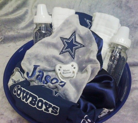 Dallas Cowboys Baby Gift Set by simplygreenerthings on Etsy ...