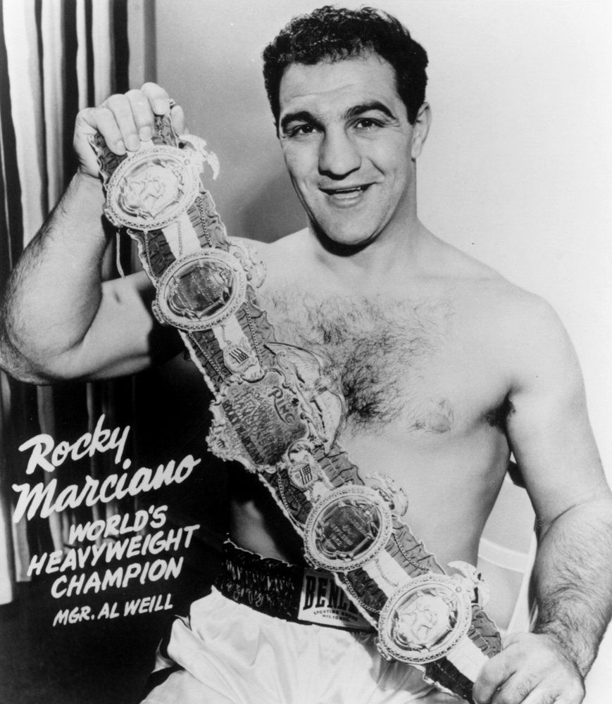 92dfeefea19d Rocky marciano heavyweight champ with belt 8x10 photo classic