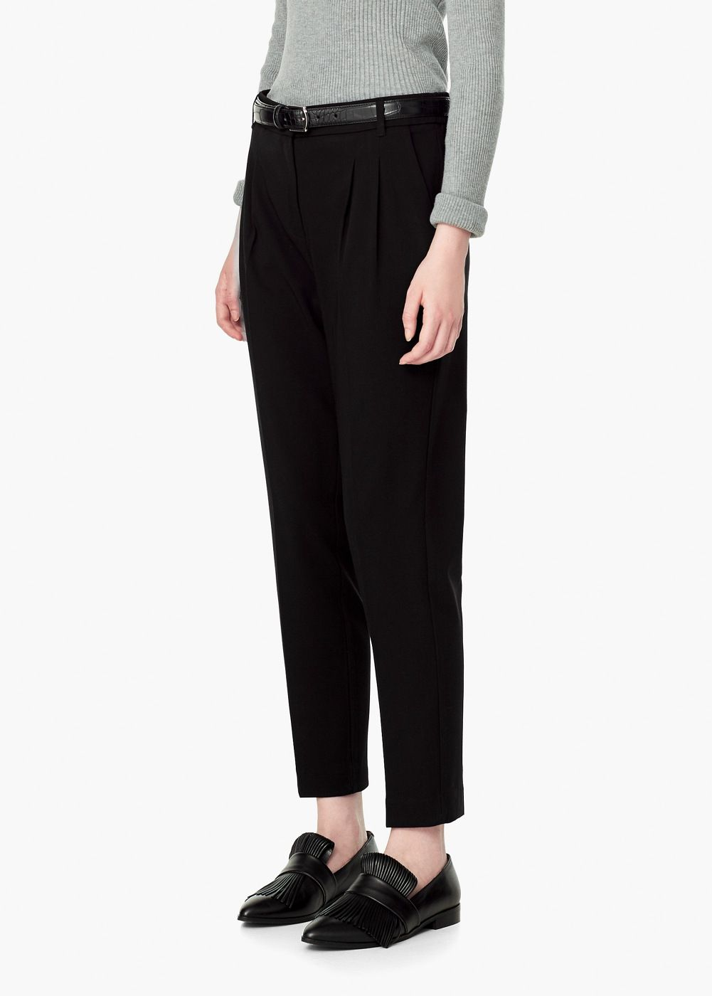 pantalon pinces pantalons costumes et mangue. Black Bedroom Furniture Sets. Home Design Ideas