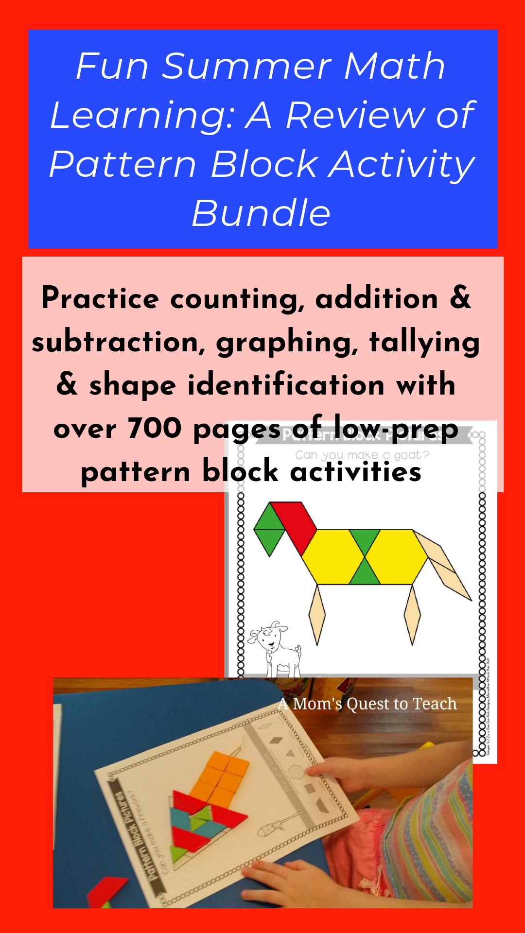 Fun Summer Math Learning A Review Of Pattern Block