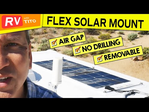 Better Way To Mount Flexible Solar Panels On Rv 2019 Youtube Flexible Solar Panels Solar Panels Solar