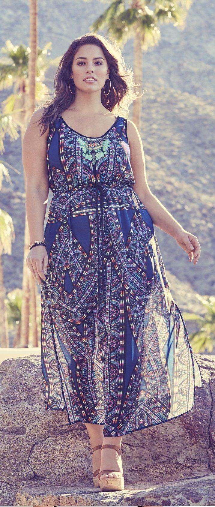 Plus Size Maxi Dress   colección de tazas   Pinterest   Moda para ...