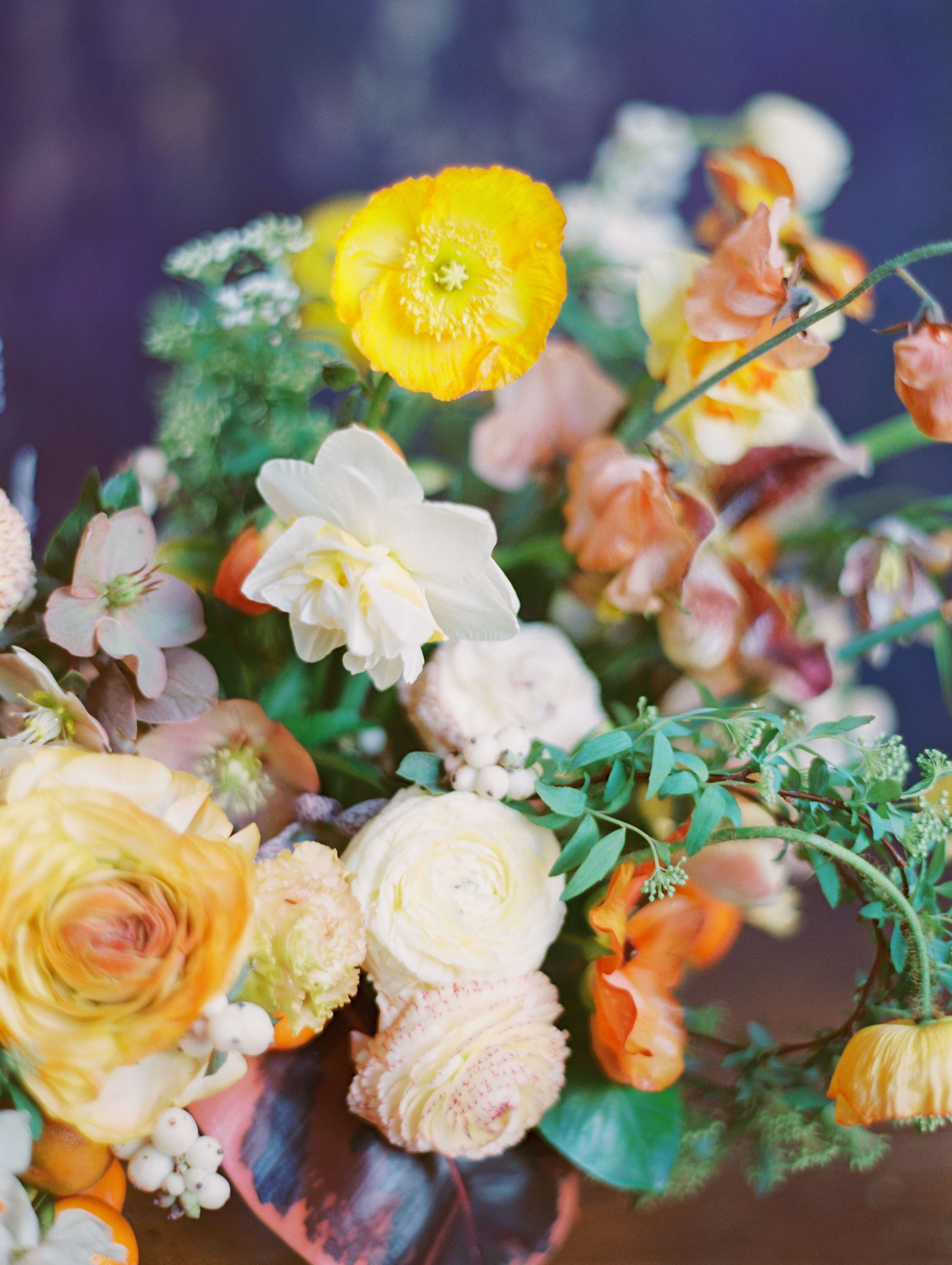 Colorful Summer Yellow Orange And White Wedding Floral Design Wit