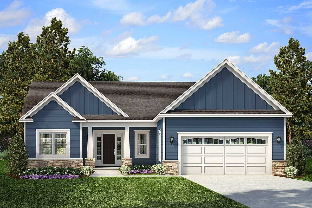 Plan 790052glv Exclusive One Level Craftsman House Plan Craftsman House Craftsman House Plans Bungalow House Plans
