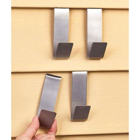 Bigbolo Vinyl Siding Clips, for Hanging Clothes, Shoes, Sandals (4-Pack) - Walmart.com