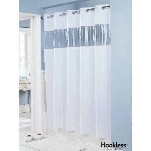 No Hook Shower Curtain Vinyl Shower Curtains Hookless Shower