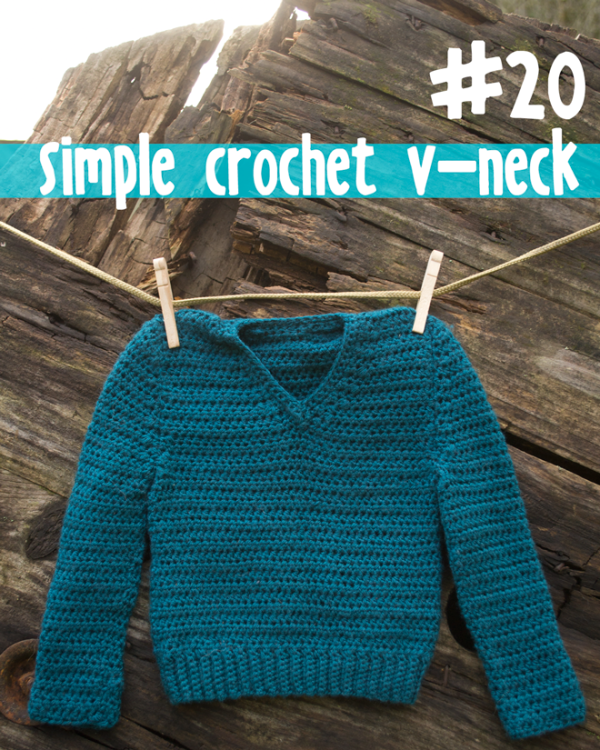 Simple V Neck Crochet Baby Sweater From 100 Baby Sweater Patterns