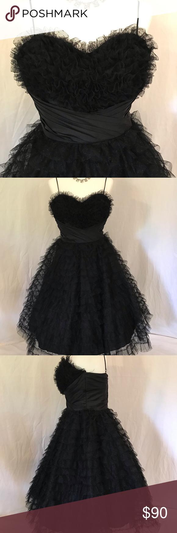 Unique Vintage Black Tulle Sweetheart Swing Dress Swing Dress Unique Vintage Dresses Colorful Dresses [ 1740 x 580 Pixel ]