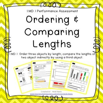 Md Ordering And Comparing Lengths Performance Assessment