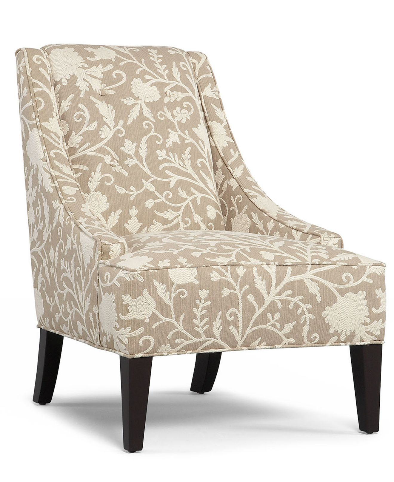 Martha Stewart Fabric Living Room Chair, Lansdale Accent: Custom ...