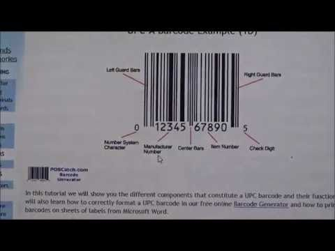 How To Create A Free Upc Barcode Using The Poscatch Barcode Generator Youtube Barcode Labels Barcode Generator Universal Product Code