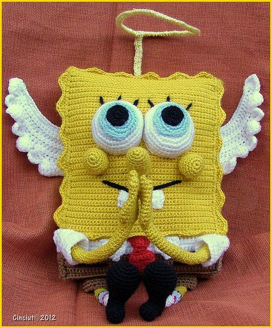 Diesen heilligen Spongebob häkeln. Anleitung Kostenlos Englisch PDF ...