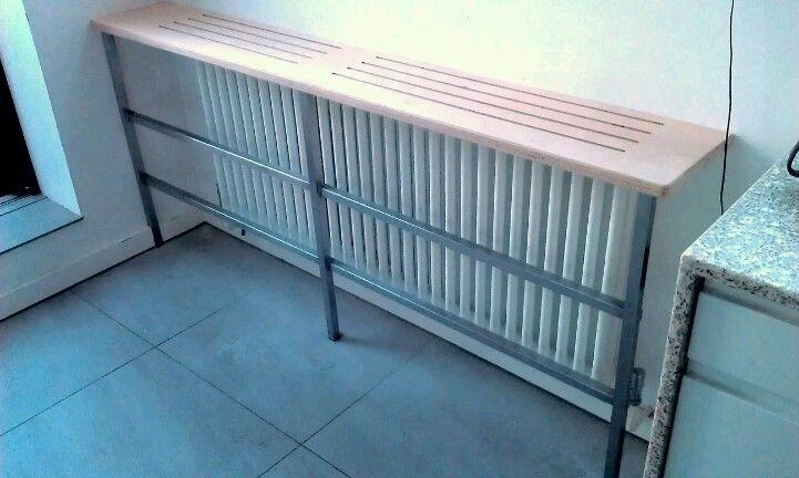 High bench over radiator for breakfast bar high table   Radiator ...