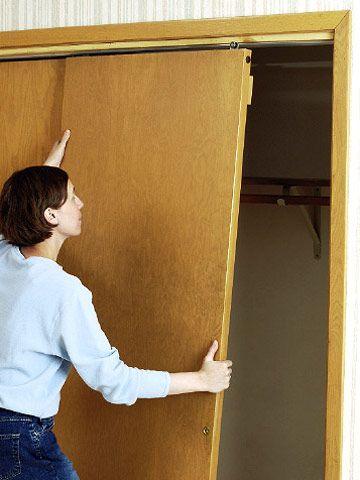 In Closet Bypass Doors In Stead Of Expensive Barn Door Hard Ware