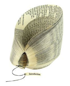 Introduction re-purposed book sculpture  $550