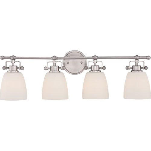 Quoizel Bower Brushed Nickel Four-Light Vanity Fixture | Vanities ...