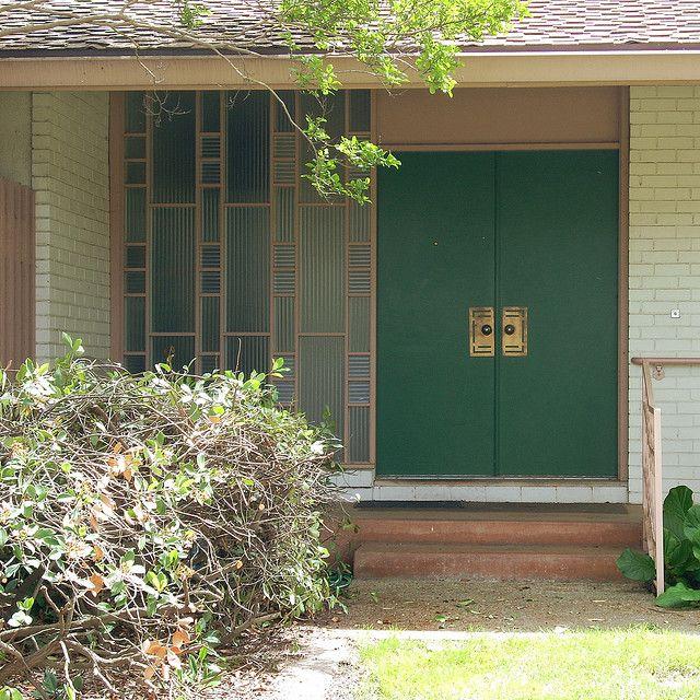 Mid century modern decorative screen door mid century for Modern screen door